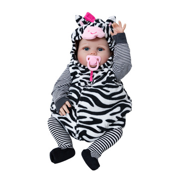 Hot Sale Reborn Baby Doll Soft Silicone Stuffed Lifelike Baby Doll Child's Playmate Toy  Doll For Kids Birthday Christmas Gifts