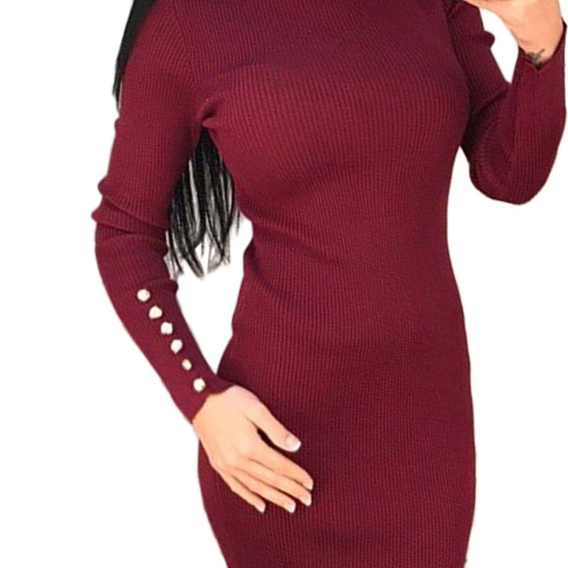 S72 Sexy Womens Bandage Slim Bodycon Mini Pencil Knit Dress Suitable For Men Women And Children