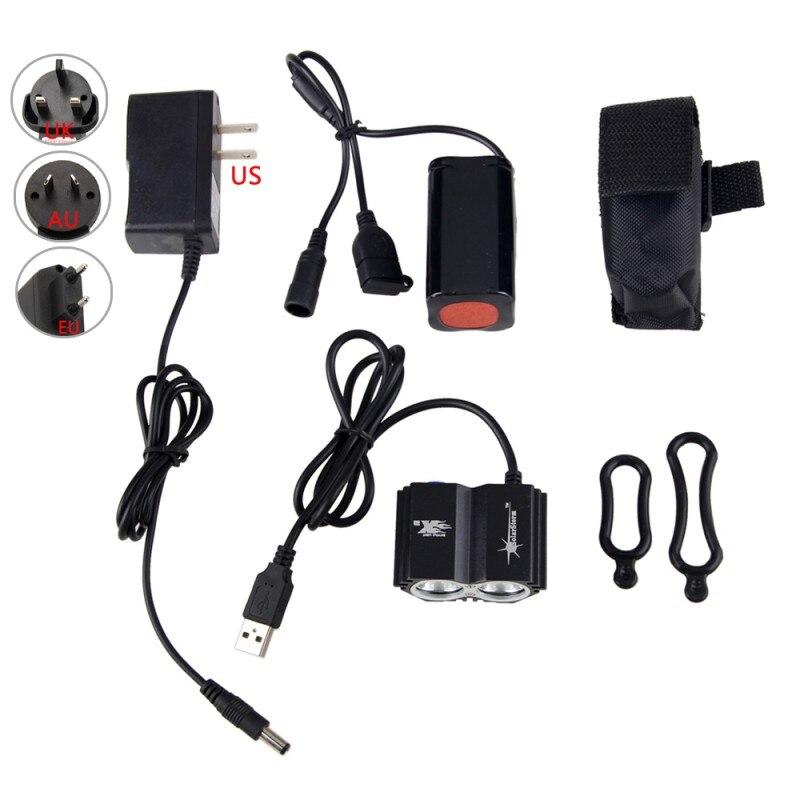 New USB de Carregamento Frontal Guidão Ciclismo Faróis 8000 Lumens T6 DIODO EMISSOR de Luz Baixo/Médio/Alto/Strobe Modos lâmpada moto