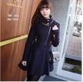 2017 novo estilo de moda outono inverno casaco jaqueta com zíper mulher clothing cintura alta design fazer você parecer mais magra we025