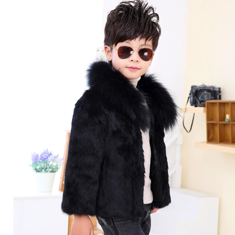 JKP children coat thick warm coat boys of new fund of 2018 autumn winters is imitation solid baby fox wool cotton jacket FPC-188
