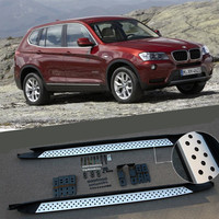 For BMW X3 F25 2011 2017 Car Running Boards Auto Side Step Bar Pedals High Quality Brand New Original Design Nerf Bars