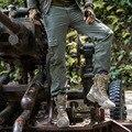 Мужская мода Открытый Тренировки Стиль Мужские Нескольких Карман Брюки-Карго мужские Случайные Хлопка Свободные Спортивные Длинные Брюки