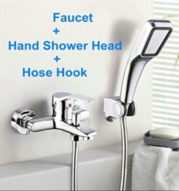 2017 Wall Mounted Bathroom Faucet Bathtub Faucet Tap With Hand Shower Head bath and Shower Faucet