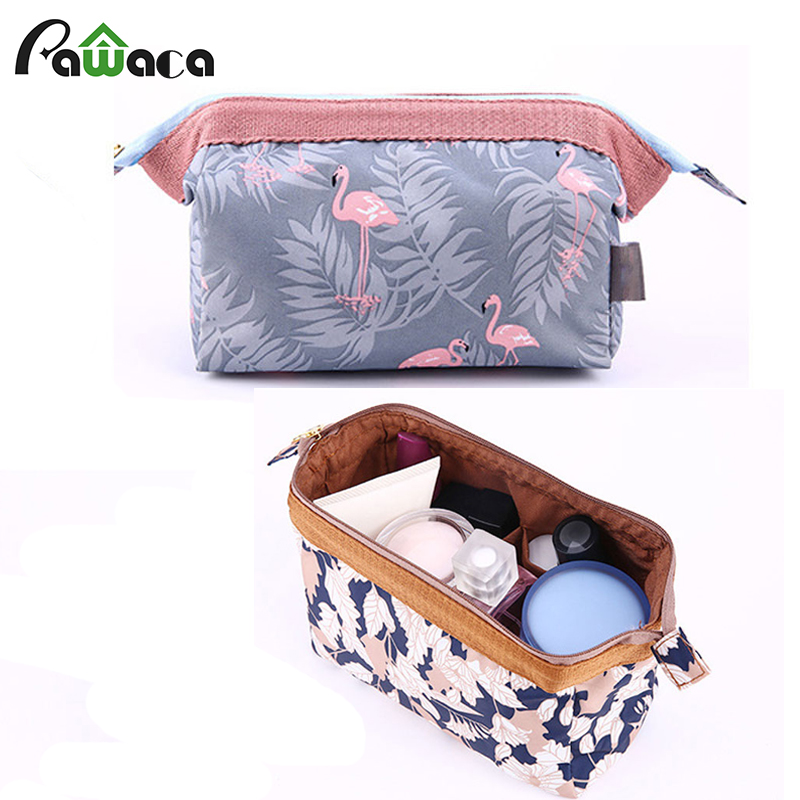 High quality Vintage Flower Print Travel Cosmetic Organizer Storage Bag Toiletry Bag Waterproof makeup Coin Purse Pouch Bag gift