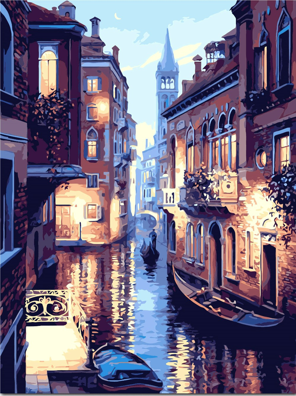 diy oil paint painting by numbers picture drawing coloring on canvas painting by hand wall paint landscape frameless