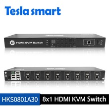Computer Office - KVM Switches - New High Quality USB HDMI KVM Switch 8 Port KVM HDMI Switches Support 1920x1440/1080P