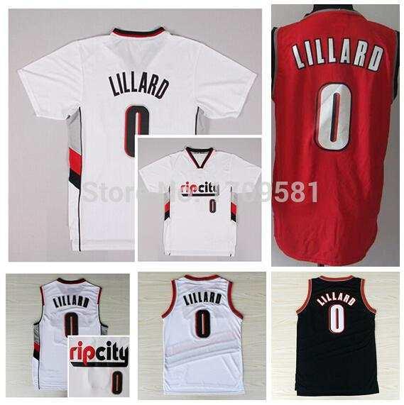 hot sale online c845f 21840 damian lillard white rip city jersey