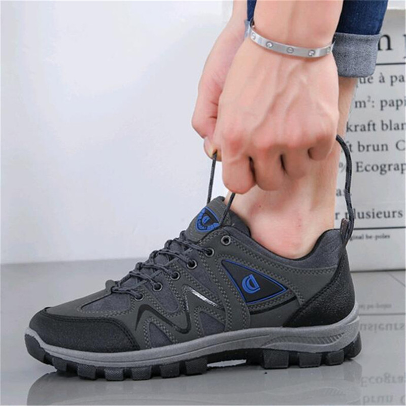Jxgxsx Fashion Autumn Waterproof Male Casual Outdoor Non-slip Sneakers Men Wear-resistant Travel Breathable Trekking Work Shoes Men's Shoes Basic Boots