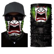 все цены на Seamless Skull Skeleton Joker Clown Balaclava Tube Neck Face Mask Scarf Motorcycle Bicycle Hunting Outdoor Bandana Headband  70% онлайн