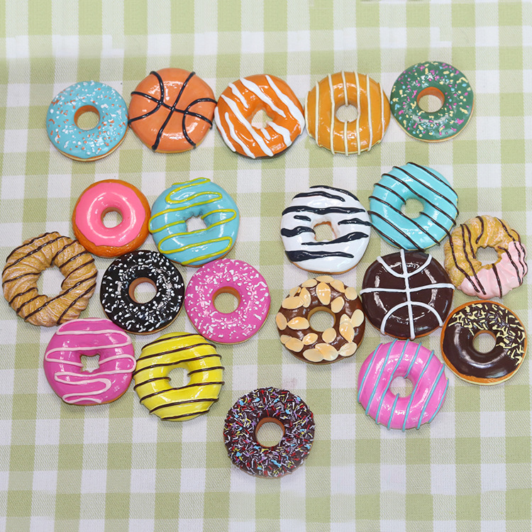 100pcs lot Donuts Doughnut Shaped Fridge Magnets Simulation Food Refrigerator Magnetic Stickers Wholesale