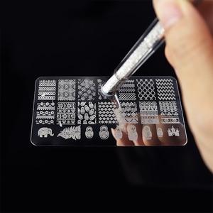 Image 5 - Colorful Dual ended Nail Art Brushes Stamper Sponge DIY  Rhinestone Handle Brush Blooming UV Gel Pen