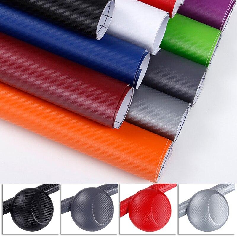 Auto Products 3D Carbon Fiber Car Body Color Film 127*10 Cm Car Sticker Automotive Interior Modeling Stickers Car Accessories