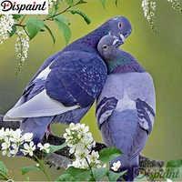 """Dispaint полный квадратный/круглый дрель 5D DIY алмазная живопись """"Животное голубь"""" 3D вышивка крестиком 5D домашний декор A11925"""