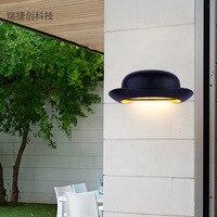 야외 벽 조명 광장 현대 미니 멀리 즘 벽 램프 야외 발코니 방수 정원 램프 모자 유형 벽 램프 lw426233