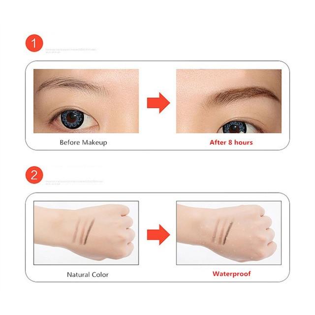 New Brand Eye Brow Tint Cosmetics Natural Long Lasting Paint Tattoo Eyebrow Waterproof Black Brown Eyebrow Pencil Makeup 1