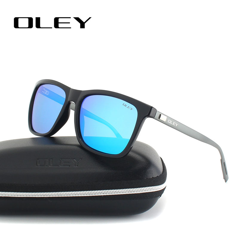 OLEY Aluminium magnesium + R90 fashion zonnebril heren dames gepolariseerde vierkante zonnebril Goggles zonnebril dames