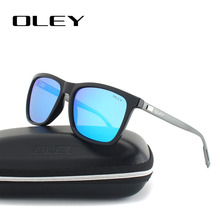 OLEY Aluminum magnesium +R90 fashion sunglasses men women polarized square sun glasses Driving Goggles zonnebril dames banmar aluminum magnesium men sunglasses polarized sports driving goggles sunglass fishing uv400 square sun glasses for men