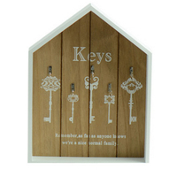 HIPSTEEN Country Style Wooden Box Key Holder Keys Pendant Storage Wall Hanger Home Decor