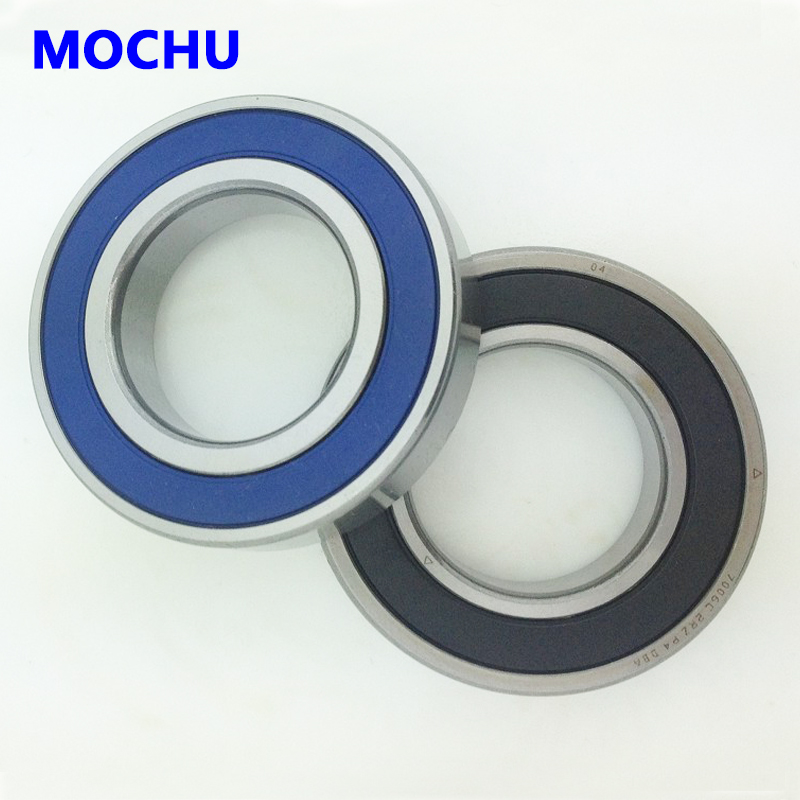 7009 7009C 2RZ HQ1 P4 DB A 45x75x16 *2 Sealed Angular Contact Bearings Speed Spindle Bearings CNC ABEC-7 SI3N4 Ceramic Ball 1 pair mochu 7009 7009c 2rz p4 db a 45x75x16 45x75x32 sealed angular contact bearings speed spindle bearings cnc abec 7