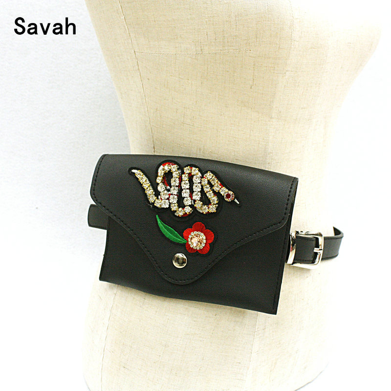 Quick sale of taobao hot style ladies small bag belt pure hand-embroidered and diamond-encrusted small snake with a fine leathe ...