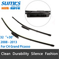 """Wiper blades for Citroen C4 Grand Picasso ( 2008 - 2013 ) 32""""+30"""" fit bayonet arms only"""