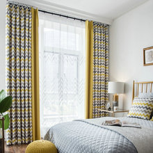 Printed Geometric Wave blackout curtains Drapes Curtains For Living Room  Modern bedroom kitchen curtains autumn wave
