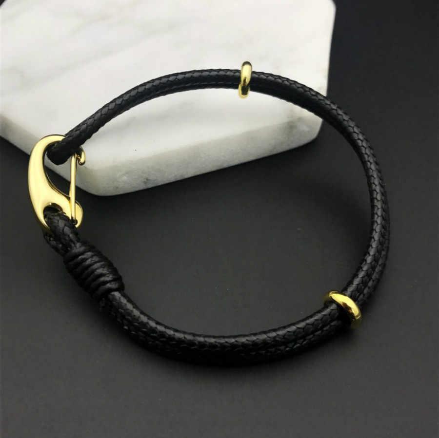 1 Pcs Sell handwork weaving Charm Bracelets Leather cord String Bracelet Lucky Red Handmade Rope for Women Men Bracelet