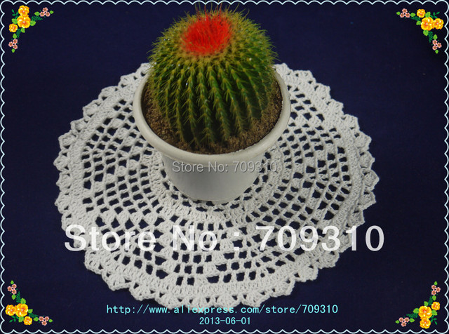 Free Shipping Hand Made Geometric Patterns Crochet Doily Table Mat