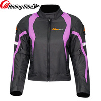 Riding Tribe Woman's Motorcycle Jacket Winter Clothing Full Season Waterproof Reflective Moto Racing Coat Protective JK 64