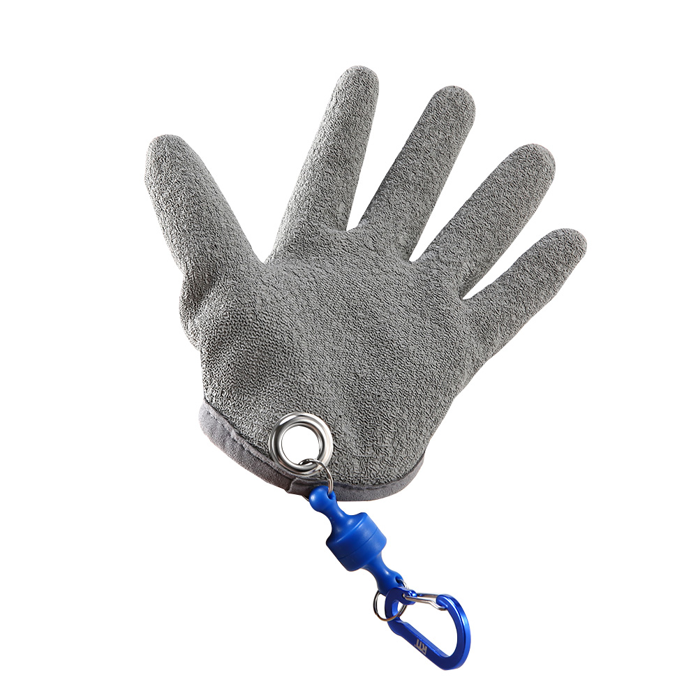 Half-palm Fish Catching Gloves with Magnet Release For Right Hand Gloves  LG