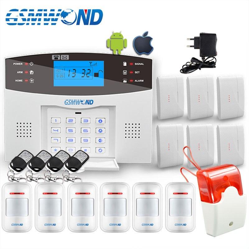 Teclado confortável M2B sistema de alarme Sem Fio GSM, Tela de LCD, Para O Sistema de Alarme de Assaltante Home, Alarme Detector Sensor