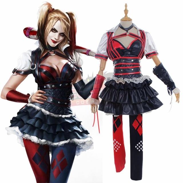 Zwart Rode Jurk.Cosplaylegend Harley Quinn Cosplay Volwassen Kostuum Custom Made