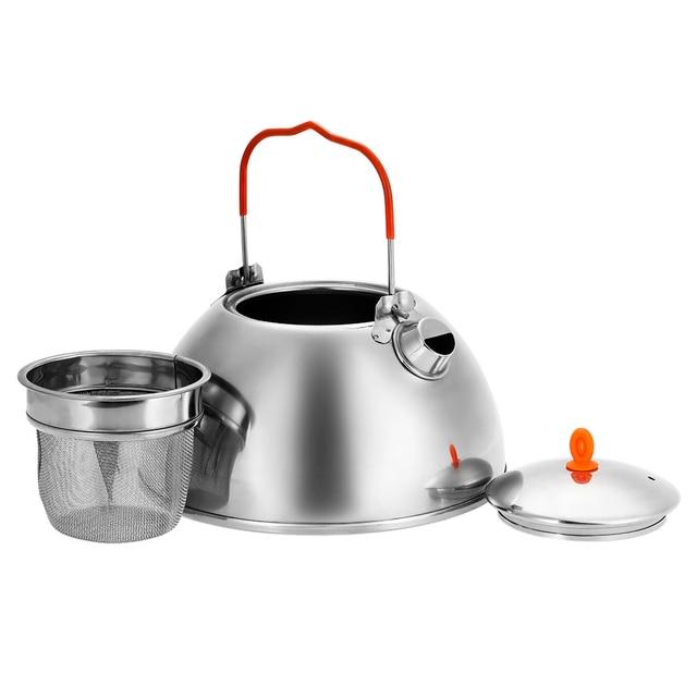 BRS 0.6/1.1L Acampamento Ao Ar Livre Caminhadas Piquenique de aço Inoxidável Chaleira Bule de Café Pote de Água Bule de Chá Chaleira com Chá filtro