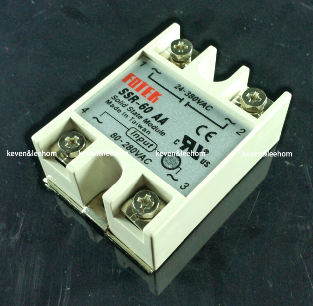 solid state relay SSR-60AA 60A actually 80-250V AC TO 24-380V AC SSR 60AA relay solid state normally open single phase solid state relay ssr mgr 1 d48120 120a control dc ac 24 480v