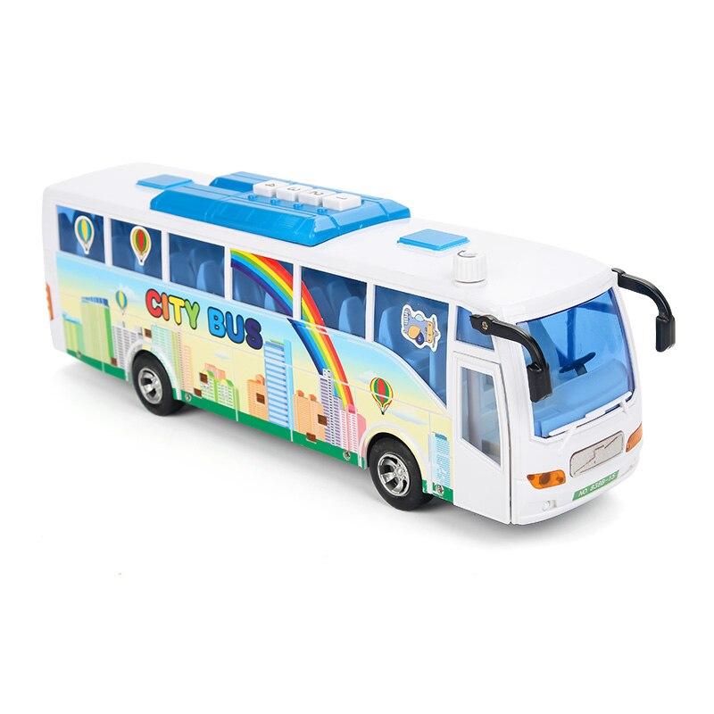 Электронный моделирование городской автобус модель Пластик Игрушки для маленьких детей Детские литья под давлением и автомобиля легкие зв...