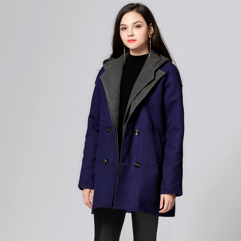 103aabe405e62 2018 Women Wool Coats Long Hoodies Winter Plus Size Cashmere Jacket Cloak  Fall Tweed Jackets Coat Cape Ladies Boho Windbreakers-in Wool   Blends from  ...