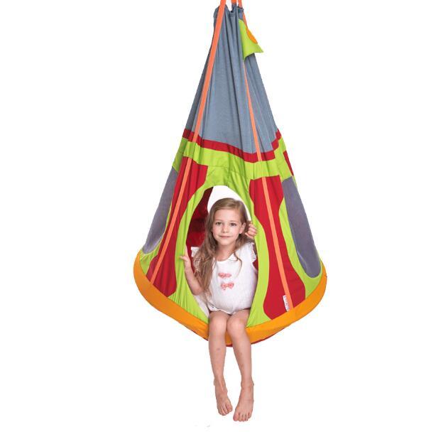 Pirate ship indoor outdoor cloth bag hanging chair hanging basket silkworm nest nest balcony fabric swing children gifts children cartoon animals hanging outdoor basket toys