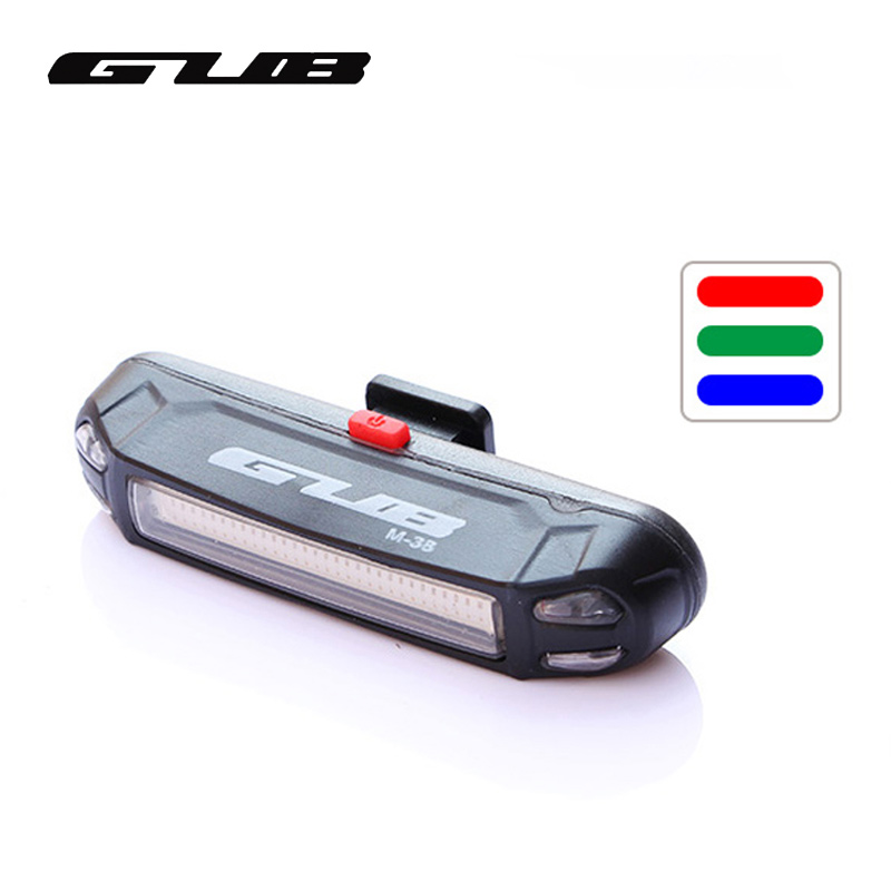 3 Colors Light Bike Light Ultra-light Safety Warning LED USB Rechargeable Front Rear Lamp Bicycle Light Tail