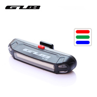 3 Colors Light Bike Light Ultra Light Safety Warning LED USB Rechargeable Front Rear Lamp Bicycle