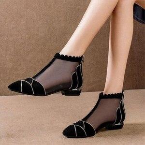 Image 3 - Phụ Nữ Mắt Cá Chân Giày 2020 Mới Gợi Cảm Rỗng Sang Trọng Thương Hiệu Giày Cao Gót Người Phụ Nữ Xuất Sắc Nữ Lưới Giày Boot Nữ Giày Botines mujer