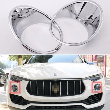 TTCR-II Car Accessory Front Fog Light Lamp Cover Ring Decor Trim ABS Chrome For Maserati levante 2016 Chromium Styling Stickers