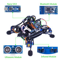 SunFounder Rollflash Bionic Robot Turtle With APP Control For Arduino Nano HC SR04 Ultrasonic IR Infrared