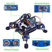 SunFounder Rollflash Biónico Tortuga Robot con Control de APP para Arduino Nano Ultrasónico HC-SR04 IR Infrarrojos de Evitación de obstáculos