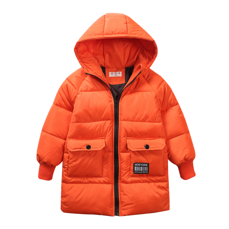 boys winter Coat hooded 5-13 years old kids down jacket children's parkas warm Long trench coat Solid color windproof fashion 2017 winter women jacket down new fashion long sleeve hooded thick warm short coat slim big yards female autumn parkas ladies242