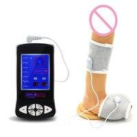 Белый ремешок пениса Cock кольцо электрическим током медицинские тематические игрушки electro Shock импульса физической терапии продукт секса I9-179