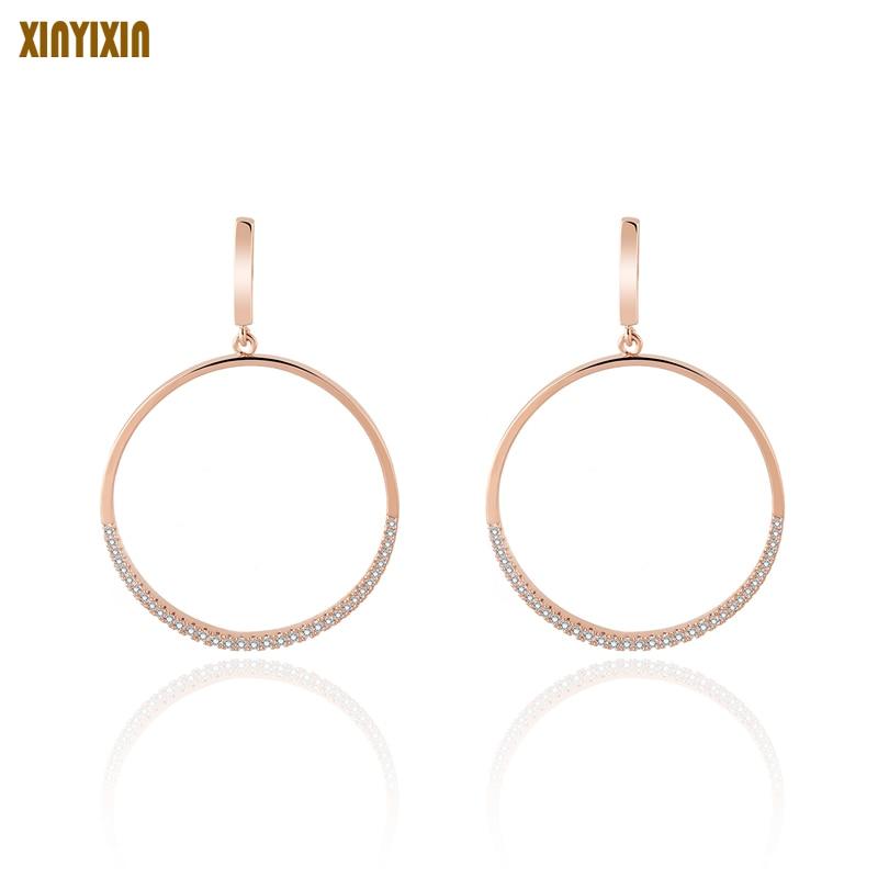 Hot Sale Hoop Earrings Big Smooth Circle Earrings Basketball Celebrity Brand Loop Earrings For Women Jewelry Bijoux Femme