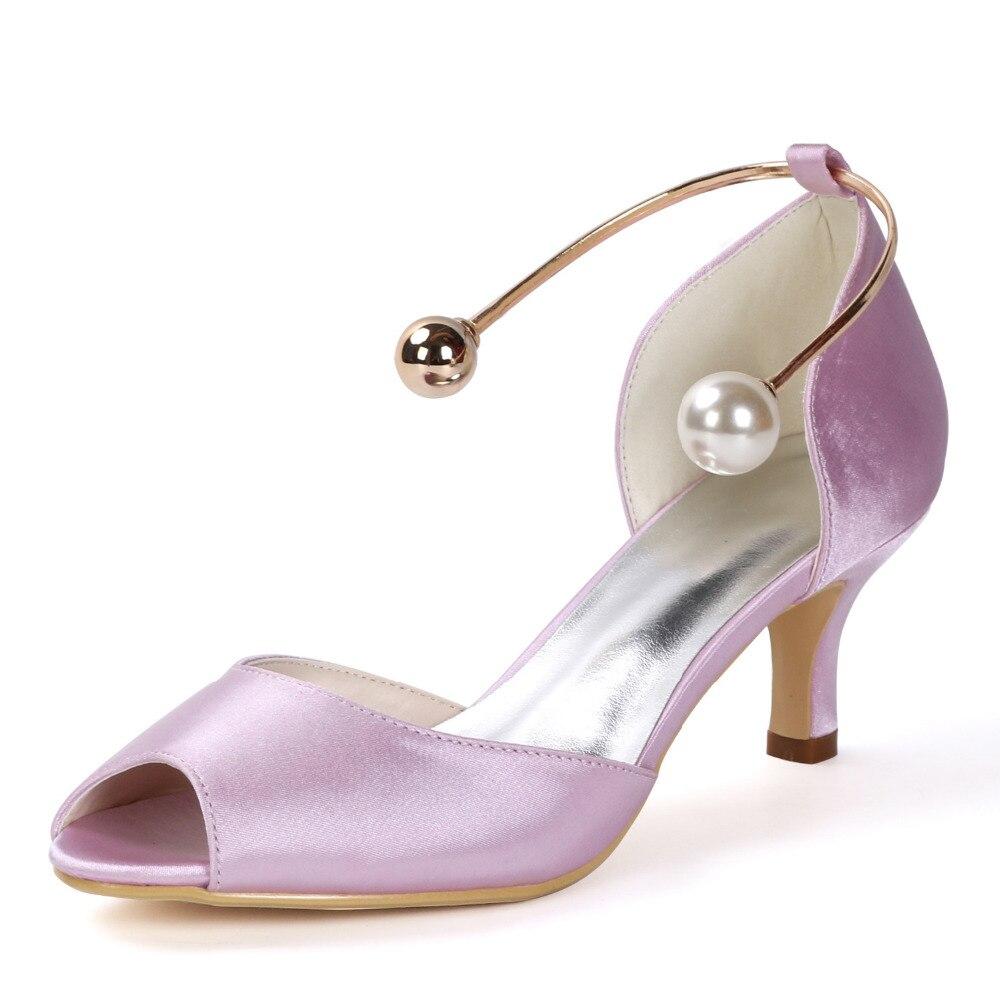 Creativesugar élégant 2 pouces talons D'orsay satin de soirée robe chaussures avec métal cheville Bracelets de mode de mariée de mariage pompes