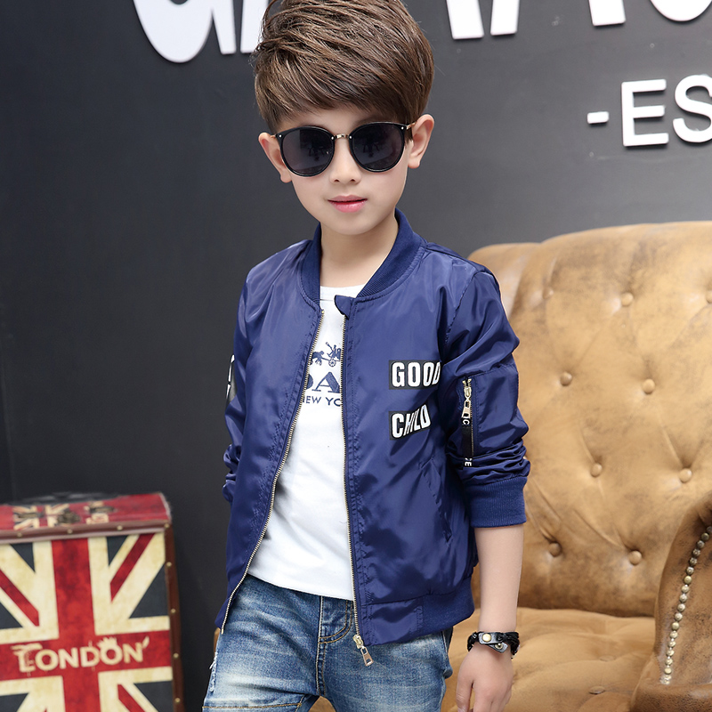 110 120 130 140 150 160cmSpring Autumn Jackets for Boy Coat Bomber Jacket Boy's Windbreaker Jacket Kids Children Jacket age 3 14