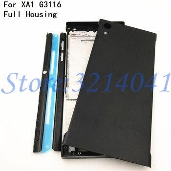 Полный корпус средняя передняя рамка Корпус для Sony Xperia XA1 G3116 G3115 G3112 + Боковая рельсовая полоса с боковыми кнопками + логотип